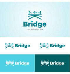 Bridge and water logo vector