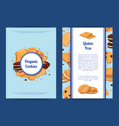 Card or flyer templates set with cartoon vector