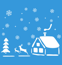 christmas landscape for the holiday vector image