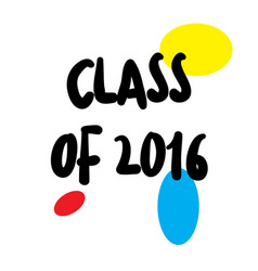 Class of 2016 stamp on white vector