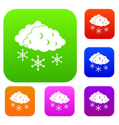 clouds and snow set collection vector image