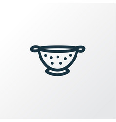 Colander icon line symbol premium quality vector
