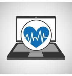 Computer digital healthcare pulse heart vector
