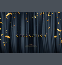 congratulations graduate template with golden vector image