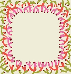 Coral background vector