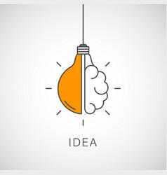 creative idea line icon lightbulb education vector image