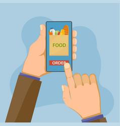 customer orders food in online store vector image