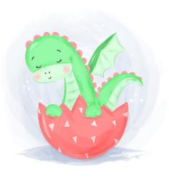 Cute badinosaur vector