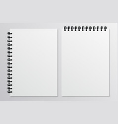 empty sheets of paper with the shadow mockup style vector image
