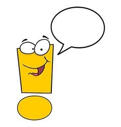 Exclamation Mark Cartoon Character vector image