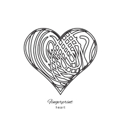 Fingerprint abstract heart vector