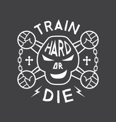 Fitness emblem vector