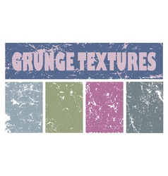 Four colourful grunge textures for your design vector image