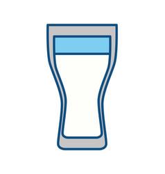 Fresh juice glass cup vector