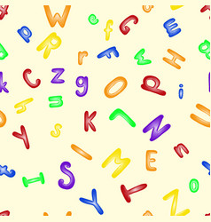 funny plastic letter alphabet seamless pattern vector image