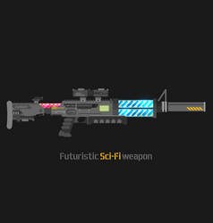 Futuristic sci-fi weapon vector
