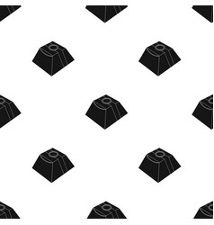 Gift in the form of a pyramid gift wrap on vector