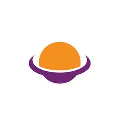globe technology ilustration logo vector image