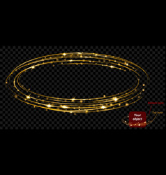 golden glowing two layered fire ring with glitters vector image