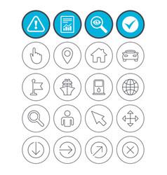 Gps navigation icons car and ship transport vector