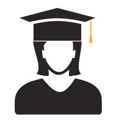 graduates student - education icon vector image