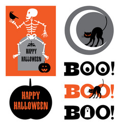 halloween graphics vector image