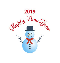 happy new year greeting card on white background vector image