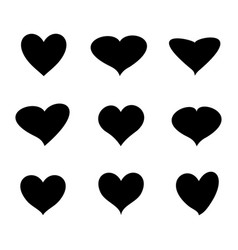 Heart icon background vector