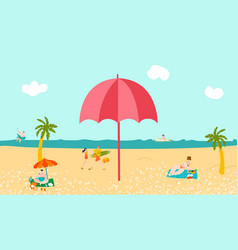 hot tour vacation sea beach tropical palms and vector image