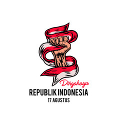 Indonesia happy independence day vector
