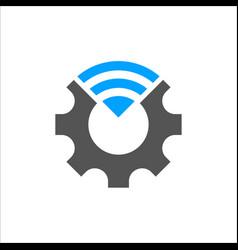 Industry 40 cogwheel vector