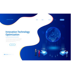 isometric creative innovation technology concept vector image