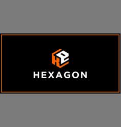 Ke hexagon logo design inspiration vector