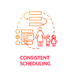 Kids consistent scheduling concept icon vector