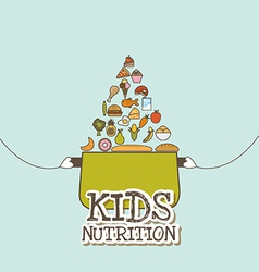 Kids nutrition vector
