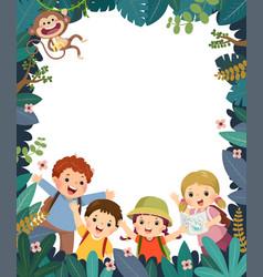 kids summer camp poster vector image