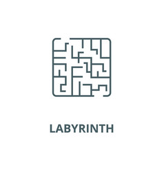 labyrinth line icon linear concept vector image