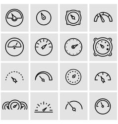 line meter icon set vector image