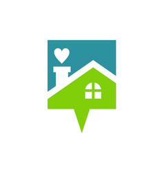 Love house talk logo vector
