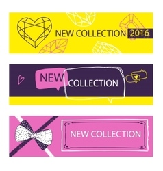 New collection Web Banner Header Layout Template vector image