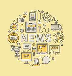 News broadcasting colorful vector