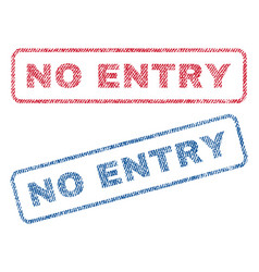 no entry textile stamps vector image
