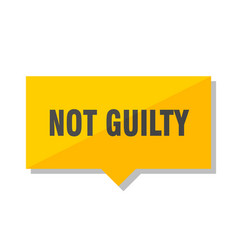 not guilty price tag vector image