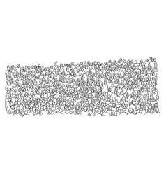 outline crowd of people on stadium vector image