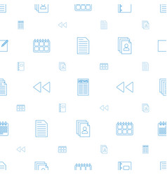 Page icons pattern seamless white background vector