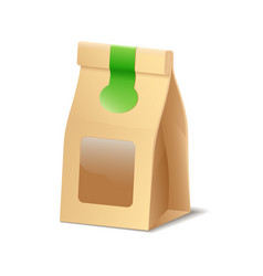 paper packaging shopper eco bag for food vector image
