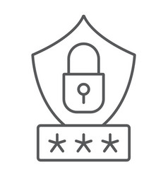 password protection thin line icon privacy and vector image