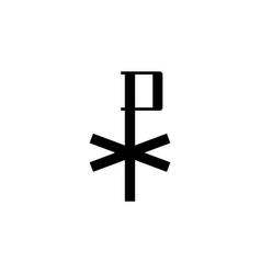Religion symbol chi rho icon element of vector