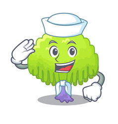 Sailor isolated weeping willow on the mascot vector