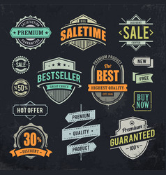 Sale retro labels vector